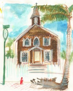 Philipsburg St Maarten Church - PaintSarahPaint