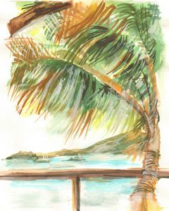 Caribbean Tropical View - PaintSarahPaint