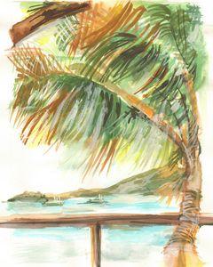 Caribbean Tropical View - PaintSarahPaint