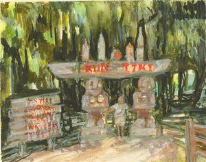 Kong Tiki Bar St Maarten - PaintSarahPaint