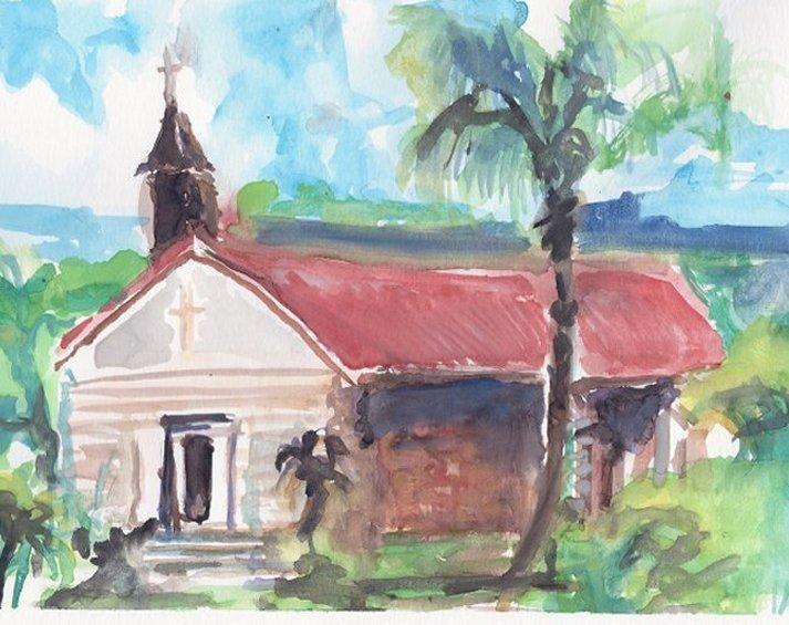 St Barth Church - PaintSarahPaint