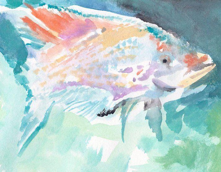 Light Colored Tropical Fish - PaintSarahPaint