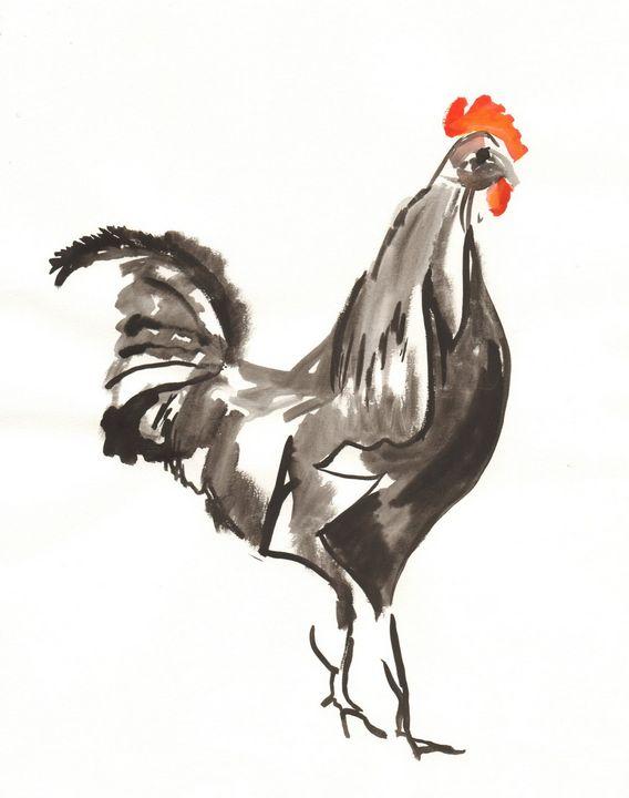 Cock of the Walk - PaintSarahPaint