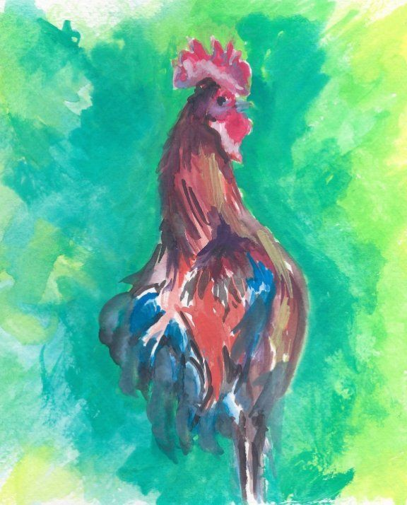 Key West Rooster - PaintSarahPaint