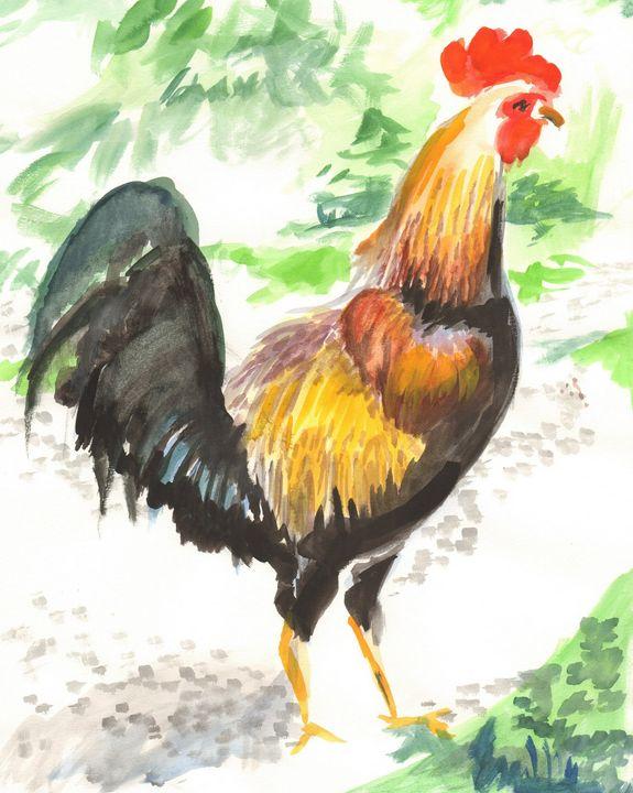 Key West Backstreet Rooster - PaintSarahPaint