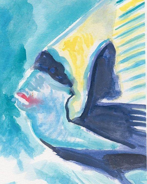 Bandit Fish - PaintSarahPaint