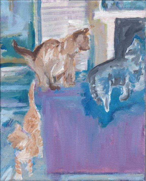 Sofa Cats - PaintSarahPaint