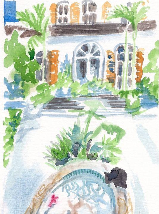 Key West Courtyard - PaintSarahPaint