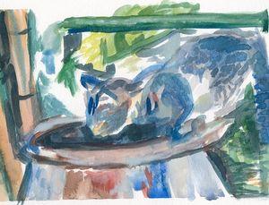 Hemingway Cat - PaintSarahPaint