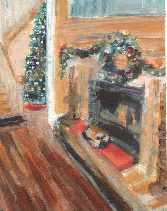 Christmas Cat - PaintSarahPaint