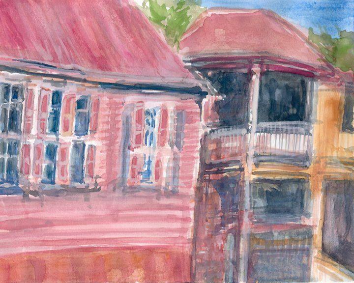 Gustavia St Barts Downtown - PaintSarahPaint