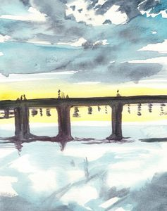 Susquehanna River Bridge - PaintSarahPaint