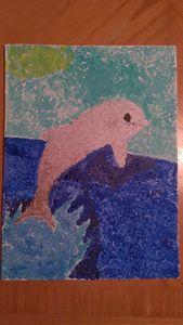 Pointillism dolphin