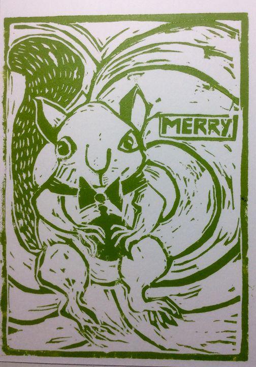 Merry Squirrel - AK Art Prints