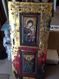 Original Painting on 18thC Oak Door