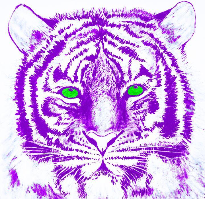 Hand Painted Purple Tiger - Earl Hopkins