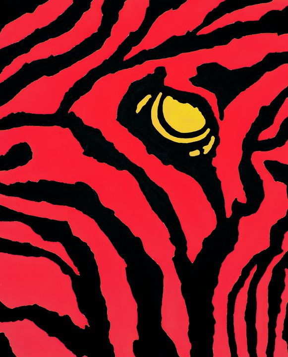 Abstract Red Zebra - Earl Hopkins