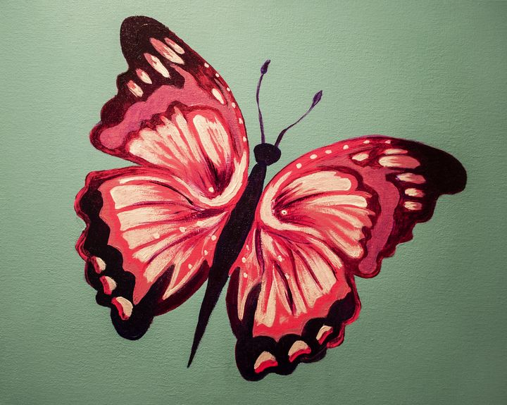 Hand Painted Butterfly - Earl Hopkins