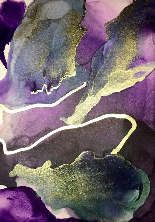 Island alcohol ink - Unique Interiors Chloe