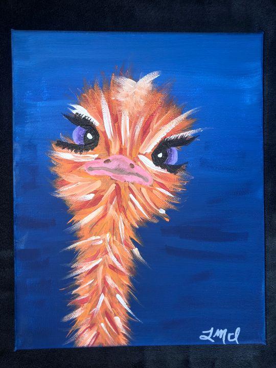 Orange Ostrich - Lillyan Mastine