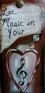 Let Music in your Heart - kristy's Art Shed