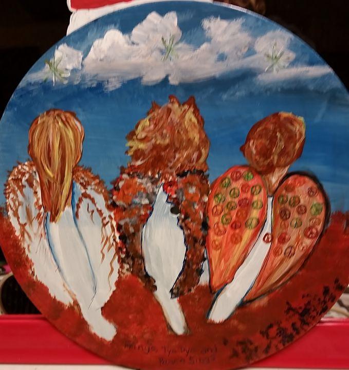 Fringe, Tye dye, & Peace signs. - kristy's Art Shed