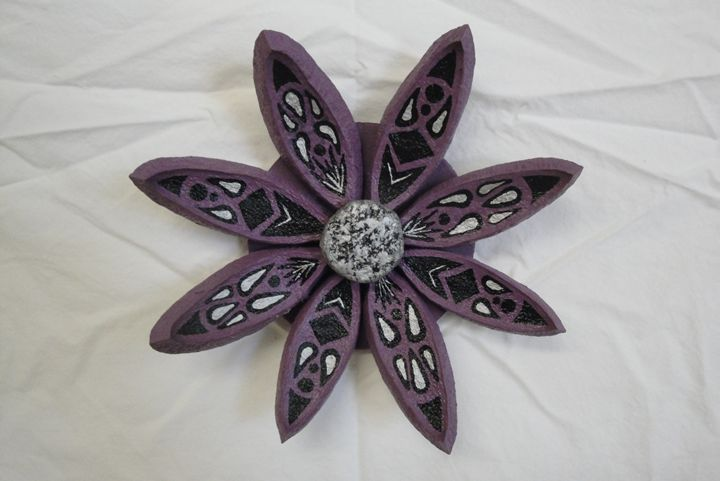 Purple Seed Pod Flower - Young Fortin Designs