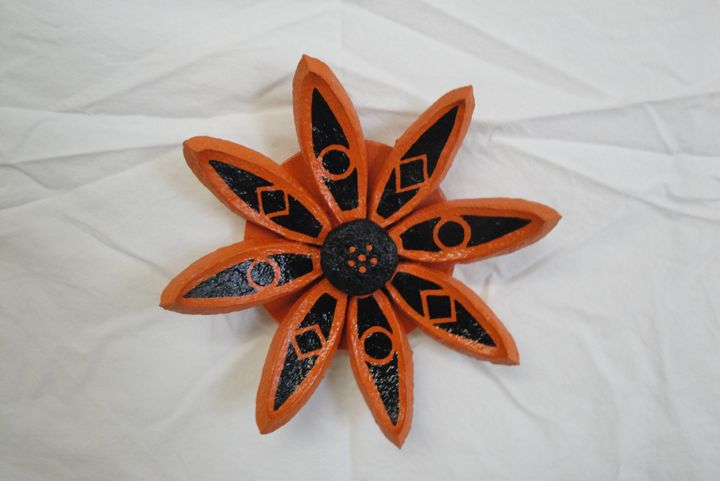 Orange Seed Pod Flower - Young Fortin Designs
