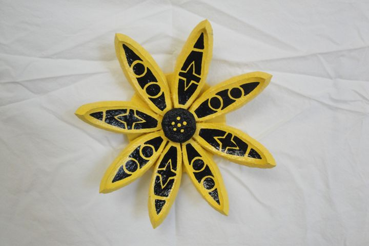 Yellow Seed Pod Flower - Young Fortin Designs