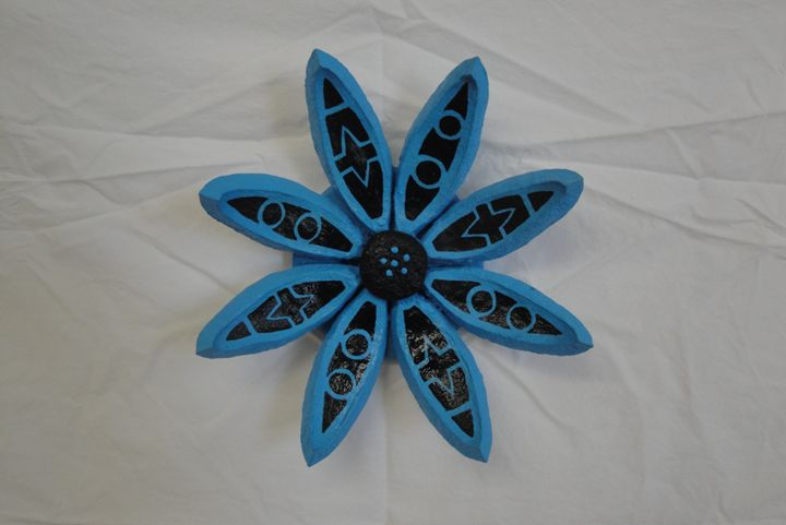 Blue Seed Pod Flower - Young Fortin Designs