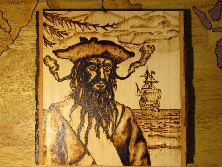 Blackbeard Pyrography - Stovepipe Hollow Woodworking and Forge
