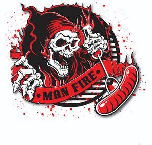 Man Fire BBQ