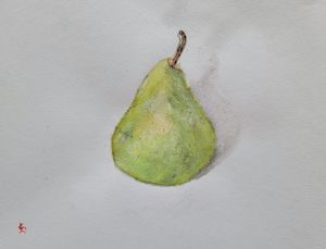 Study of a Ripe Pear