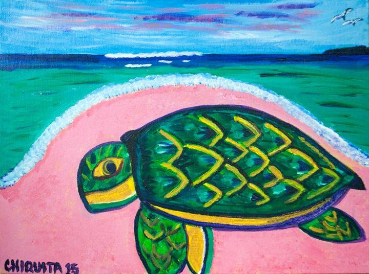 Green Turtle - Bahamian Folk Art