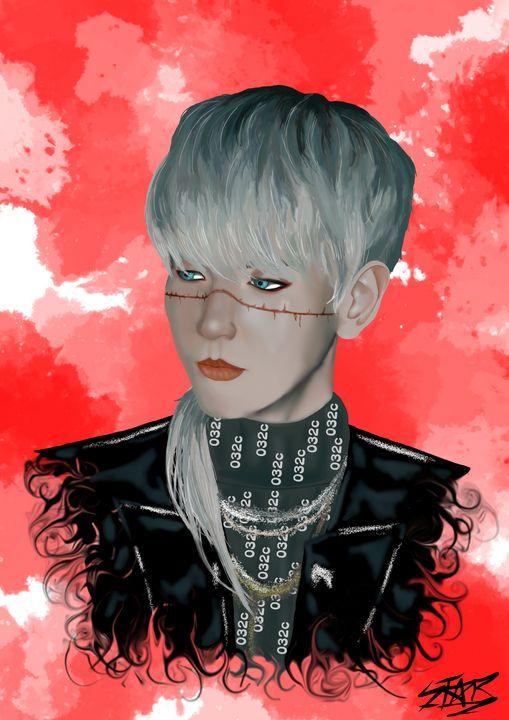 Byun BaekHyun Digital Art. - Star Draws
