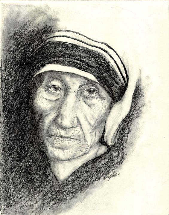 Mother Theresa - Dotti's Art...as is