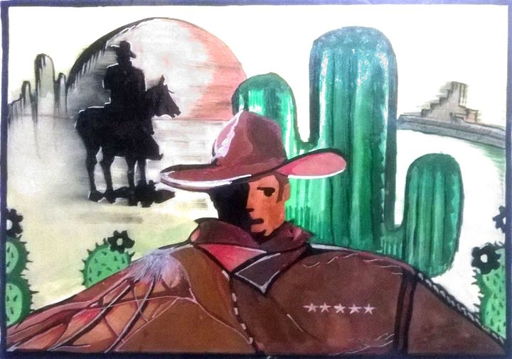 COWBOY'S STYLE - water color paintings