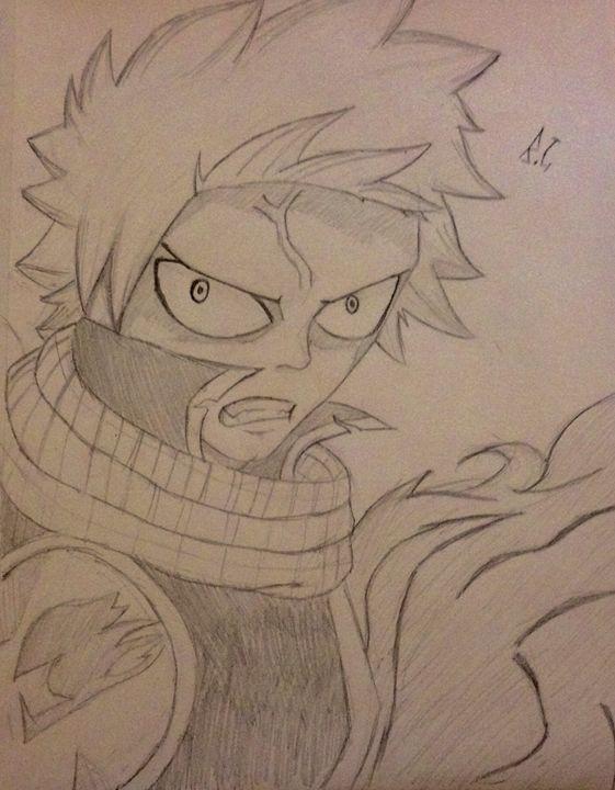 Angry Natsu - Anime art