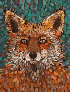 "Fox Dots, Giclee Print 15x20"""