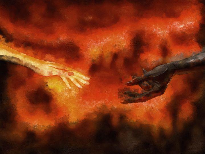 Woman and Demon - Black Morion