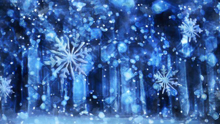 Falling snow - Black Morion