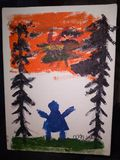 Original painting by  year old child
