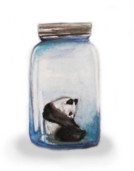 Panda in Jar - Qorryna