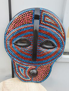 Moon Mask red-blue