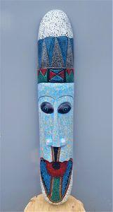 Long Mask - blue