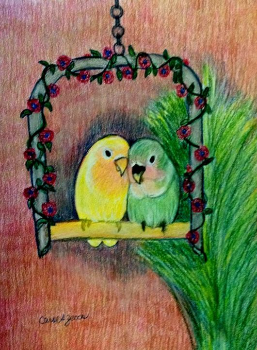 Baby Love Birds - Carol Zeock Artwork