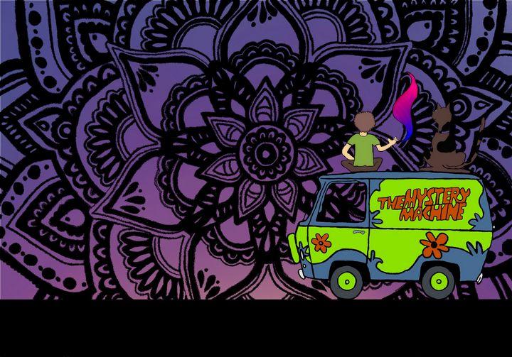 Scooby & shaggy mandala - Jenasyn