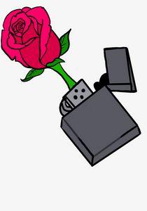 Rose lighter