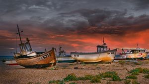 Fishing Boats at Dungeness in Kent