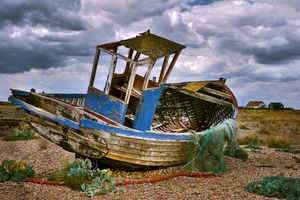 Wrecked Trawler at Dungeness Beach